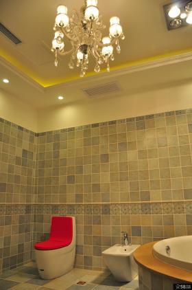 欧式古典瓷砖卫生间法恩莎卫浴马桶图片