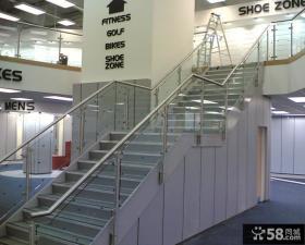 商场不锈钢楼梯扶手效果图片
