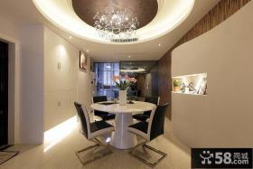 现代风格圆形餐厅吊顶装修效果图