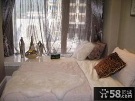 欧式简约卧室装修效果图大全2012图片 卧室飘窗窗帘装修效果图