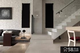 现代时尚客厅楼梯间过道装修图片