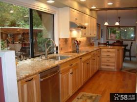 2013厨房实木整体橱柜效果图