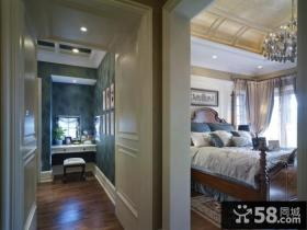 美式田园家庭设计卧室隔断墙图片