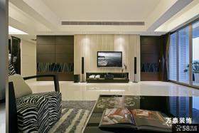 现代简约别墅电视背景墙装修效果图大全