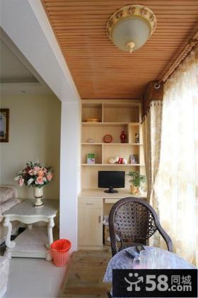 阳台装修木质吊顶图片
