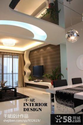现代风格客厅壁纸背景墙效果图片大全2013