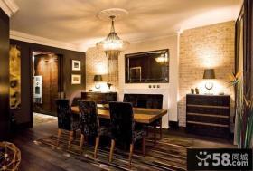 四室两厅装修效果图 美式现代风格餐厅吊顶装修效果图