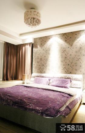 简约卧室墙纸效果图大全