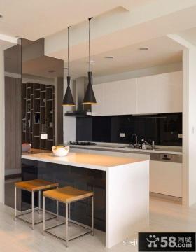 开放式厨房餐厅效果图片