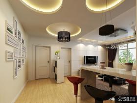 客厅走廊吊顶效果图 圆形吊顶装修效果图