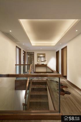 中式复式房屋楼梯装修图片欣赏