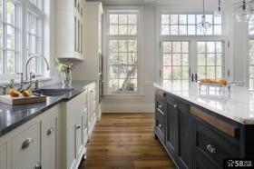 简欧风格室内厨房装潢图片