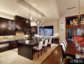 现代欧式风格厨房整体橱柜图片