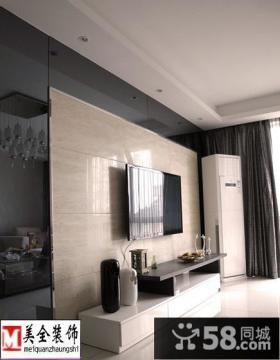 简约风格客厅瓷砖电视背景墙装修效果图片