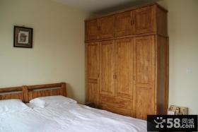 简约中式卧室衣柜装修效果图