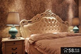欧式风格装修卧室壁纸效果图