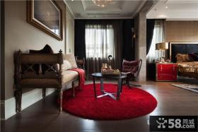 豪华别墅卧室装饰设计效果图