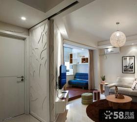 现代客厅玄关装修效果图片大全