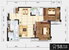 70平米两室两厅一卫户型图