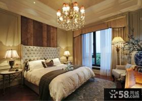 欧式卧室装修灯具效果图