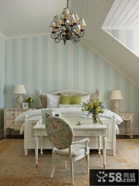 欧式卧室环保壁纸图片
