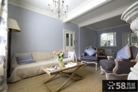 简约欧式风格起居室图片
