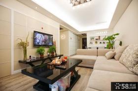 现代简约装修风格小户型客厅图片欣赏