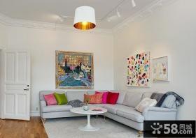 70平小户型客厅装修效果图大全2012图片 青春的色彩