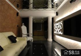 现代风格小户型客厅集成吊顶效果图