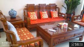 中式客厅实木沙发图片欣赏