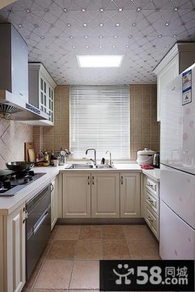 欧式风格厨房集成吊顶效果图