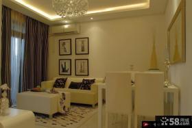 简约小客厅沙发背景墙装饰画