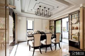 日式新古典装修设计餐厅图片大全