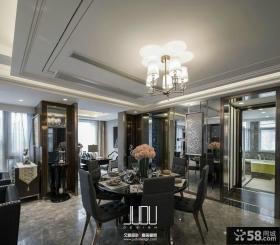 美式新古典风格家庭设计餐厅图片