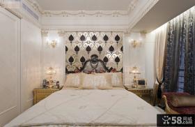 欧式风格卧室床头背景墙装修图