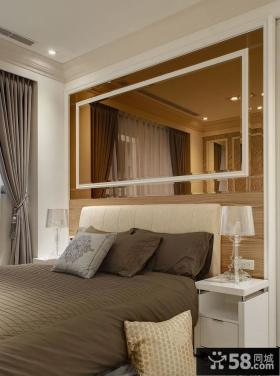 现代风格卧室床头装修效果图
