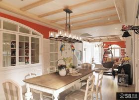 田园家居设计餐厅吊顶大全图