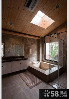 仿古风格家居卫生间装修设计图片