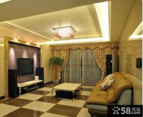 简欧风格二居客厅电视背景墙效果图