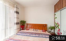 田园设计室内卧室窗帘效果图大全