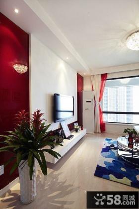 新房简单电视背景墙设计效果图