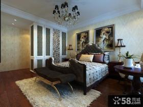 欧式风格三室两厅卧室设计图欣赏