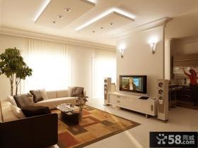 简约家庭客厅电视背景墙效果图