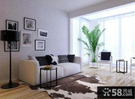 简约风格室内客厅阳台设计图片