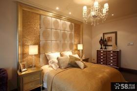 时尚卧室背景墙瓷砖效果图