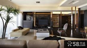 现代简欧设计客厅电视背景墙