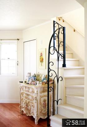 欧式风格铁艺楼梯图片