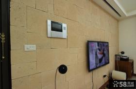 简约风格家居电视背景墙装饰效果图