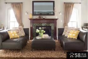 简欧风格小户型客厅装修效果图大全2014图片