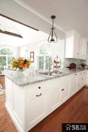 欧式开放式厨房吧台装修效果图大全2012图片